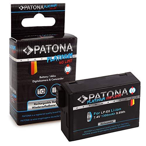 PATONA Platinum Bateria LP-E8 / LP-E8+ 1300mAh Compatible con Canon EOS 550D,...