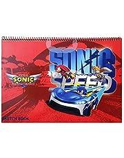 TEAM SONIC RACING SKETCHBOOK 9X55cm SN04-1267