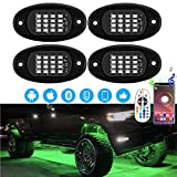 ROCCS 4 Pods RGB LED Rock Lights, Multicolor Waterproof Neon Underglow Lighting Kit with APP & Wireless Remote Control for Off Road Car Truck ATV SUV Motorcycle