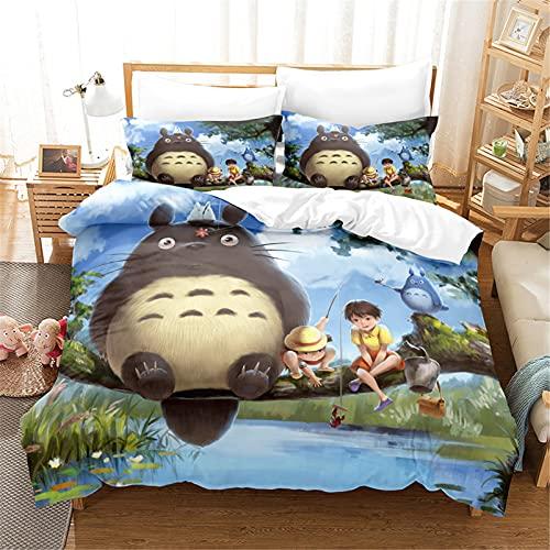 Itscominghome My Neighbour Totoro - Juego de ropa de cama (200 x 200 cm, 1 funda nórdica de...