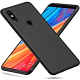 Peakally Xiaomi Mi Mix 2s Case, Black TPU Cover Phone Case