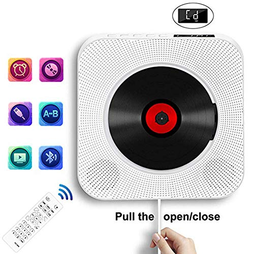 GWX Smart Wand-dvd-speler, voor thuis, cd-speler, HD-dvd-speler, ondersteuning voor thuis, bluetooth en FM-functie voor het afspelen van muziek, pränatale onderwijs