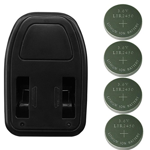4pcs of Li-ion LIR2450 Rechargeable Button Batteries, 2450 Coin Cells, with Charger