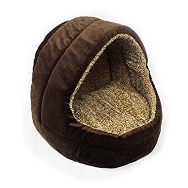 Milliard Premium Comfort Plush Cat Cave and Pet Bed - Small Size for Small Pets