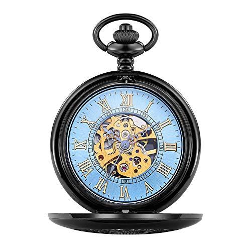 Klassische und Elegante Taschenuhr, Taschenuhr, optimiert, große Flap, mechanische Taschenaufsicht, mit Dampf geschnitzt H
