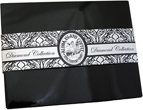100% Kona Coffee Gift Sampler, Five Coffee Roast Profiles of 100% Pure Kona Coffee, Elegant Coffee Gift for Christmas, Birthday, Anniversary, Corporate Gifts, Ground, Brews 60 Cups