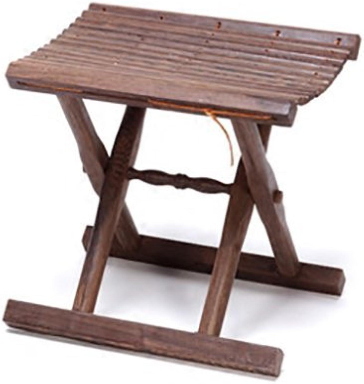 AIDELAI Bar Stool Chair- Portable Folding Mazar Solid Wood Fashion Change shoes Stool Fishing Bench Stool Stool Plus Dining Stool Saddle Seat (Size    2)