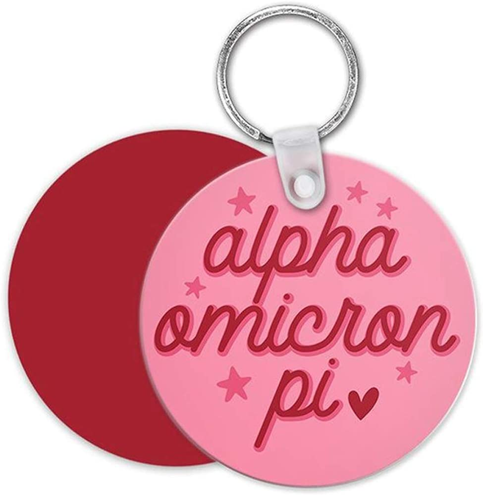 5 ☆ very popular Alpha Omicron unisex Pi AOII Star Chain Key