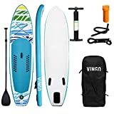 VINGO SUP Board Stand Up Paddle Board 330 * 76 * 15cm,Paddling Surfboard Stabiles Leichtgewicht,mit Tragetasche Paddel Finnen Luftpumpe Leash Repair Kit