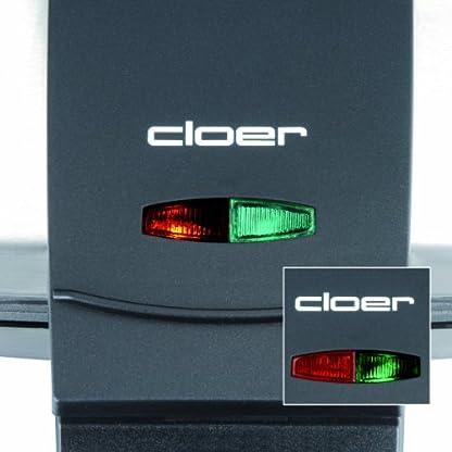 Cloer-6219-Sandwichmaker-900-W-fuer-2-diagonal-geteilte-Toasts