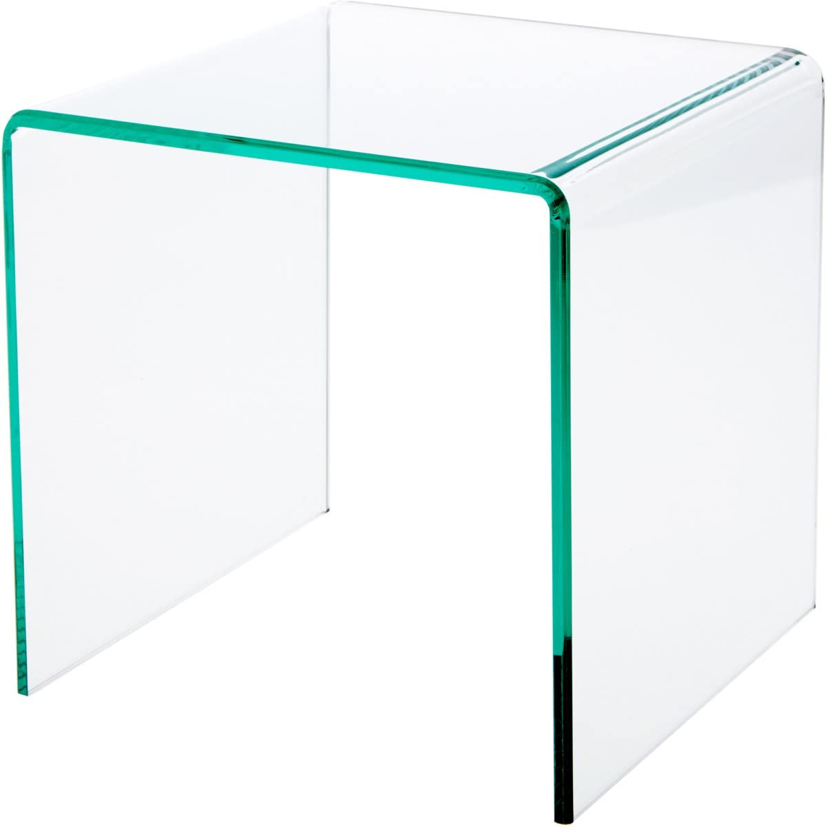 Plymor Clear Popular products Acrylic Green Glass-Look Edge In a popularity Riser Display Beveled