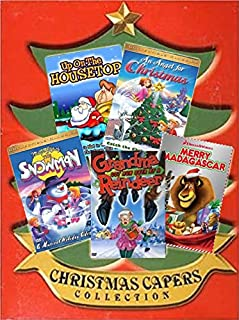 Kids Christmas Cartoons Collection 5-Pack - Grandma Got Run Over By a Reindeer/ Merry Madagascar/ The Night Before Christmas/ Up on the Housetop/ An Angel for Christmas/ Magic Gift of the Snowman