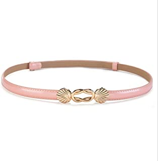 LUKEEXIN Shell Lady Decoration Skinny Belt Decorative Dress Waist Accessories (Color : Pink)