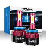 Nightghost 2019 - Juego de bombillas LED para faros delanteros H11 72 W 9000 LM/set 6500 K blanco frío