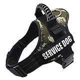 Arnés de perro Eyeleaf, arnés para perros K9, sin tirar, transpirable, ajustable, cómodo, XS, arnés de nailon suave, para perros pequeños, medianos y grandes, arnés para perros (camuflaje, L)