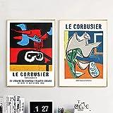 Tougmoo Le Corbusier Ausstellung Abstrakte Poster Und
