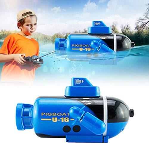 bouncevi RC Boot Wasser RC Spielzeug RC U-Boot Multifunktionales langlebiges elektrisches Schiffsspielzeug Glühendes U-Boot Modell für Teich Badewannen Schwimmbad Spielzeug