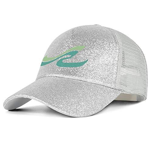 Glitter Ponytail Hat Sea-Ray-Logo-srg-White Sun Caps