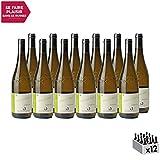 Vin de Savoie Chignin Vers les Alpes Blanc 2019 - Domaine Jean-François Quénard - Vin AOC Blanc de Savoie - Bugey - Cépage Jacquère - Lot de 12x75cl