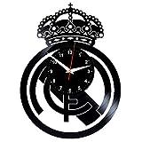 EVEVO Real Madrit - Reloj de pared de vinilo, diseño retro