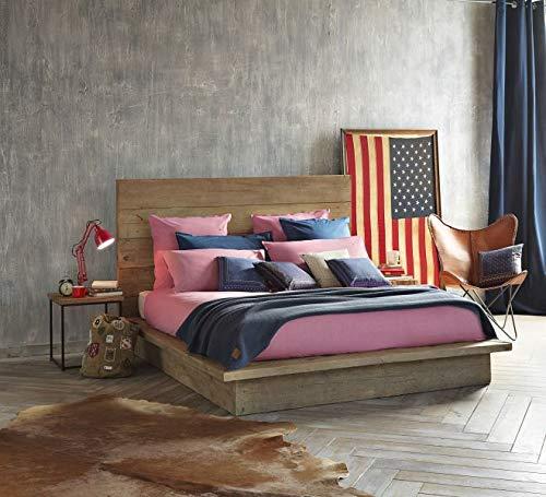 Tommy Hilfiger Bettwäsche Chambray Uni 155x220 + 80x80 cm Farbe Pink
