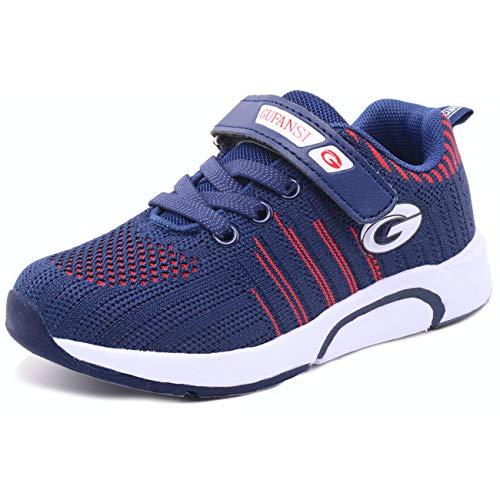 GUFANSI Hallenschuhe Kinder 34 Schuhe Jungen Turnschuhe Mädchen Laufschuhe Sportschuhe Leicht Atmungsaktiv Walkingschuhe Outdoor Snesker Fitnessschuhe Blau Kinderschuhe für Unisex-Kinder