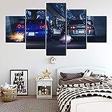 CXDM 5 Panel Segeltuch Wandkunst Malerei Plakate HD-Drucke