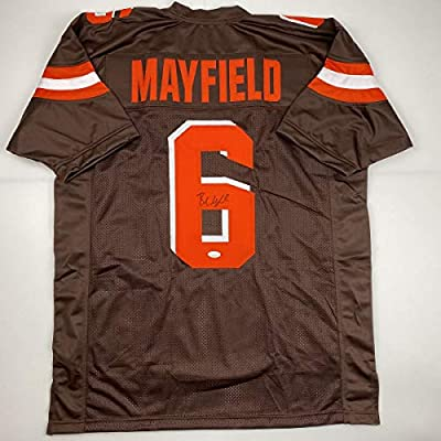 Autographed/Signed Baker Mayfield Cleveland Football Brown Jersey JSA COA