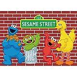 Photo Backdrop 7x5 Big Bird Elmo Background for Birthday Green Sesame Street Customized Banner for Studio Props Vinyl Backdrops