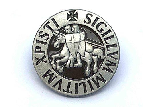 Patch Nation Pin de Solapa Redondo con Diseño de Caballeros templarios de la Nación Sigillum Militum Xpistia