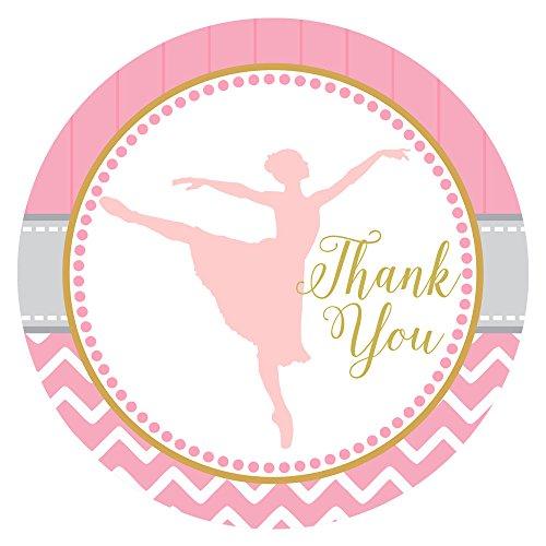 Adorebynat Party Decorations - EU Tanzen-Ballerina danken Ihnen Aufkleber Aufkleber - Geburtstags-Babyparty Ballett Recital Party - Set 30