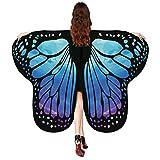 Damen Mädchen Faschingskostüme Schal Party Schmetterling Fee, Frauen Kinder Schmetterlingsflügel Pixie Schmetterlings Umhang Butterfly Wings Cosplay-ZubehöR Cape 175 * 125CM/135 * 65CM