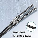 ROYAL STAR TY Limpiaparabrisas Cuchillas for BMW Serie 6 E63 E64 F06 F12 F13 630i 630Ci 645Ci 640i 650i 640i 635d 640d 640d xDrive M6 (Color : For BMW F06 F12 F13, Size : RHD)