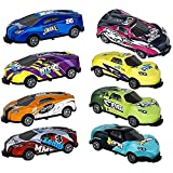 Stunt Toy Car Alloy Pull Back Catapult Car - Coche De Juguete Giratorio De 360 °, Coche De Acrobacias Saltarinas, Modelos De Vehículos De Tracción Trasera Premios De Juegos Pequeños (8pcs)
