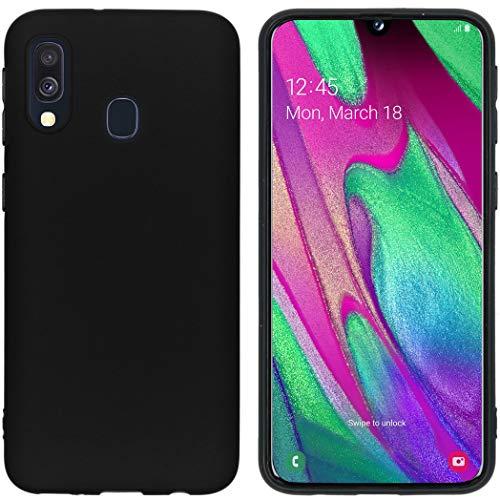 iMoshion kompatibel mit Samsung Galaxy A40 Hülle – Color Back Cover – Silikon Handyhülle Soft Case in Schwarz [Matt, Ultradünn, Anti-Rutsch]