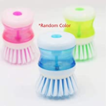 Kitchen Dish Brush with Liquid Soap Dispenser Plastic Pot Dish Cleaning Brush Home Cleaning Products Kitchen Washing Utens...