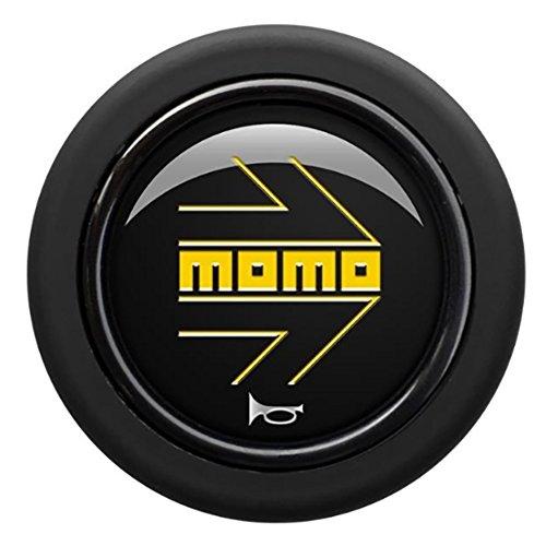 MOMO(モモ) ホーンボタン 【アロー ネロ】 ARROW MATT NERO (センターリング無し) HB-21