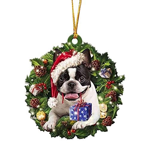 XIHUANNI Adornos colgantes para perro, decoración colgante de árbol de Navidad, decoración de...