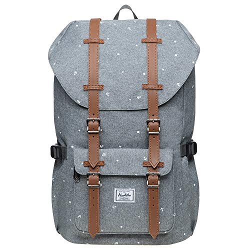 KAUKKO Schulranzen Damen Herren Studenten 18 Zoll Backpack für 13