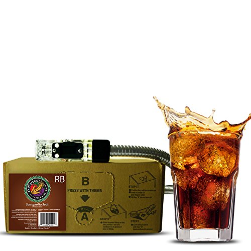 Bar Beverages Sarsaparilla Suds Craft Root Beer (3 Gallon Bag-in-Box Syrup Concentrate) - Box Pours 18 Gallons of Root Beer - Use with Bar Gun, Soda Fountain or SodaStream