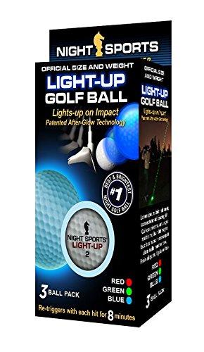 Night Sports USA Golfbälle, beleuchtet, 3 Stück