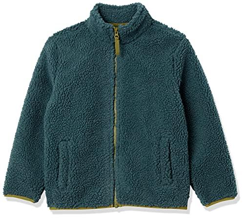 Amazon Essentials Polar Fleece Lined Sherpa Full-Zip Jackets Chaqueta de Forro, Verde Oscuro, 4 años
