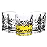 SNGU Transparent Stemless Wine FKB Glasses Set of 6,Glassware for beverage,Cocktail Liquor,Bourbon, Gin, Vodka, Brandy,Whiskey,Drinking Glass,Great reflection from Home,Party, Restaurants and Bars