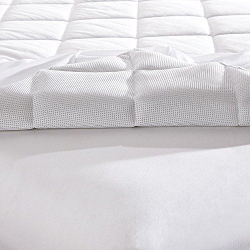 Mattress-Pad. Best Comfort, Soft, Hypoallergenic, Breathable, Natural 100% Cotton Topper Pillow For Deep Healthy Sleep. Durable, Washable Cover Protects Bed From Dust, Stains & Wetness. (Twin)