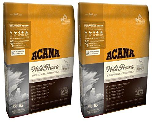 Acana 2 x 11,4 kg Regionals Wild Prärie Trockenfutter für Hunde, Multibuy