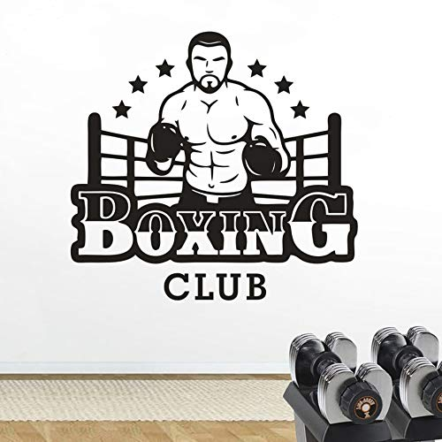Tianpengyuanshuai Art Sticker Gym Studio Creative Decoration Boxen Mannen Design Muursticker Style Sport Muurposter Kunstst