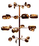 Pure Copper and Brass Heavey Duty Construction Moves with a slight breeze Larger Wheels - 2 ft,, Smaller Wheels - 15 ins About 6-ft Tall Extremely detailed and impeccable Craftsmanship