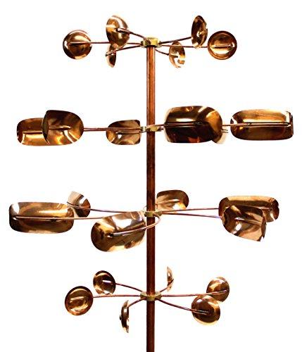 Stanwood Wind Sculpture Kinetic Copper Wind Sculpture - Quaking Aspen