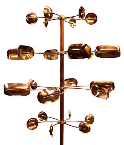Stanwood Wind Sculpture Kinetic Copper Wind Sculpture - Quaking Aspen