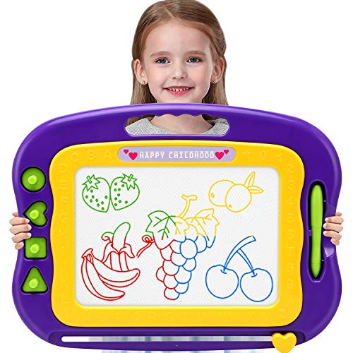Wellchild Magnetic Drawing Board,Toddler Toys for Girls Boys 3 4 5 6 7 Year Old Gifts,Magnetic...